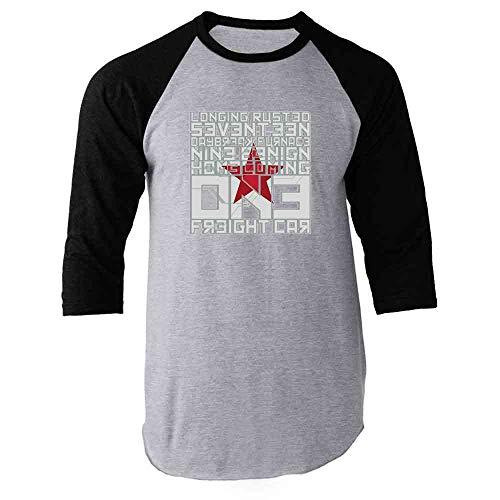 Pop Threads Activation Code Words Graphic Black XL Raglan Baseball Tee Shirt