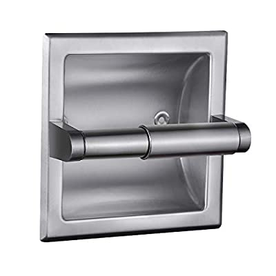 POKIM Recessed Toilet Paper Holder/Toilet Tissue Holder Includes Rear Mounting Bracket