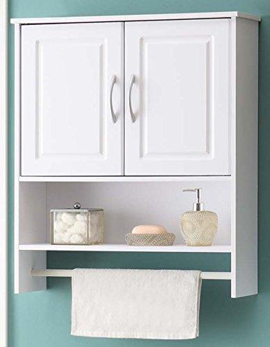 (4D Concepts Bathroom 2 Door Wall Cabinet, White)