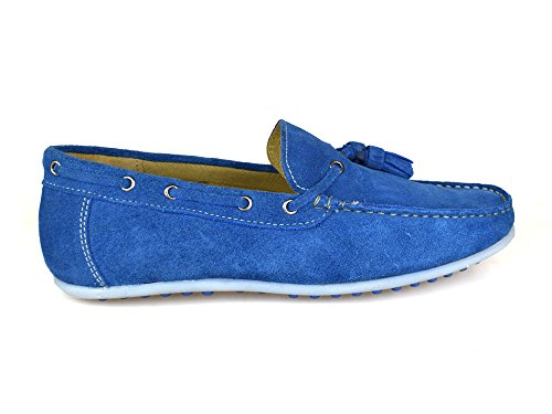 blu colore da scamosciata Londra barca Scarpe da Street uomo pelle in argento Tamigi pwHq77U