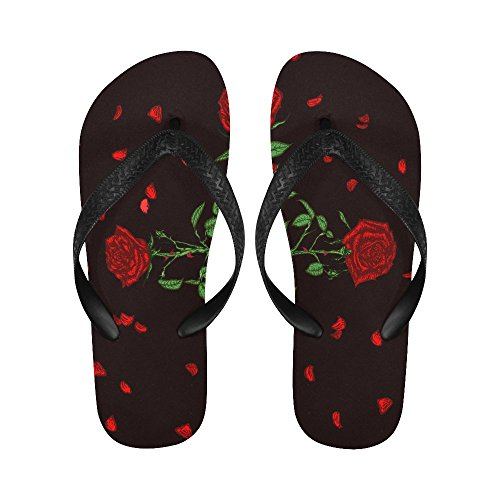 D-Story Rose Cross Flip Flops Beach Sandals For Men/Women CY60uB