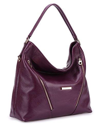 Leather Ladies Vintage BIG AINIMOER Top Purple handle Bags Womens Body Shoulder Tote Cross Handbags Bag SALE Purse 0wCwq4