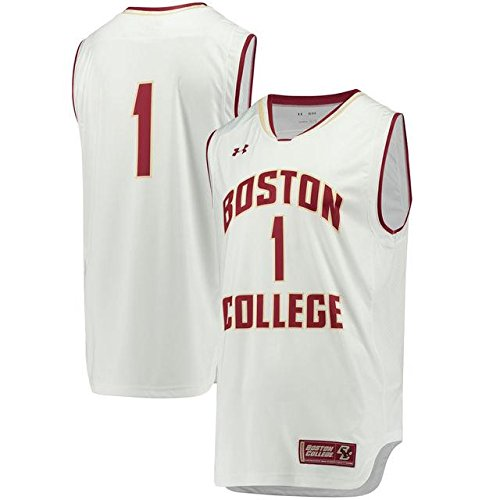 Under Armour Under Armour #1 Boston College Eagles White Replica Performance Basketball Jersey スポーツ用品 【並行輸入品】 B07FQQK7D1   M