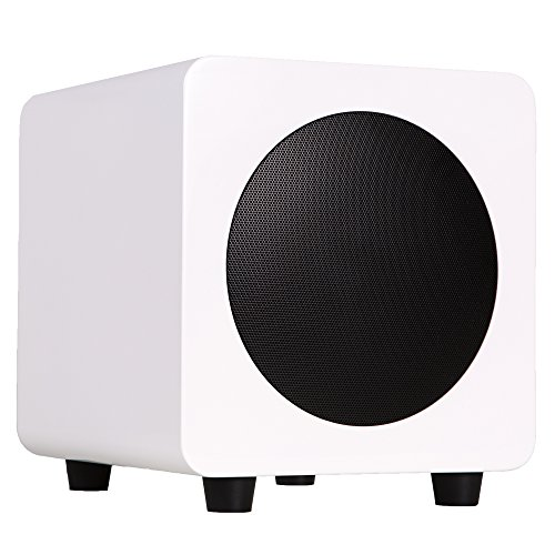 "Kanto sub6 6"" 80W Powered Subwoofer Gloss White SUB6GW"