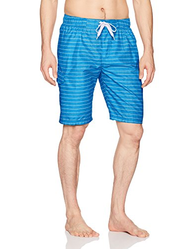Blue Swimming Suit - Kanu Surf Men's Echelon Swim Trunks (Regular & Extended Sizes), Line Up Royal Blue, Medium