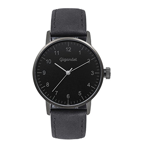 Gigandet Women's Quartz Watch Minimalism Analog Leather Strap Black G27-004