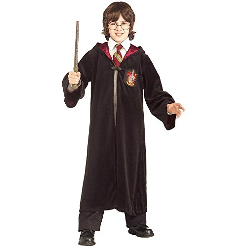 [Harry Potter Gryffindor Robe Child Costume, Large, Black] (Harry Potter Robe Costume)