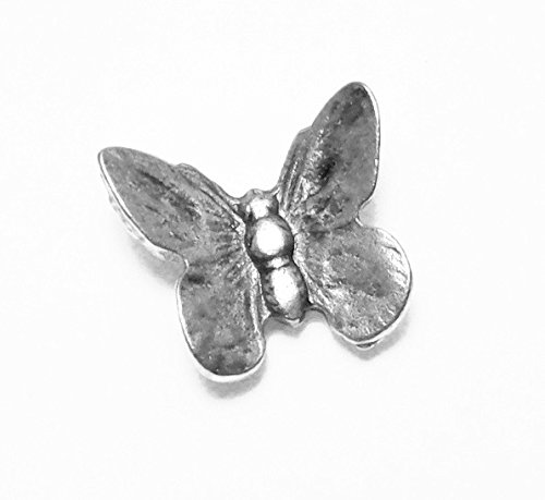 NEW ITEM BUTTERFLIES ARE FREE'' 15PCS SET OF BUTTEFLY PUSHPINS ANTIQUE SILVER T-612AS by Norma Jean Designs