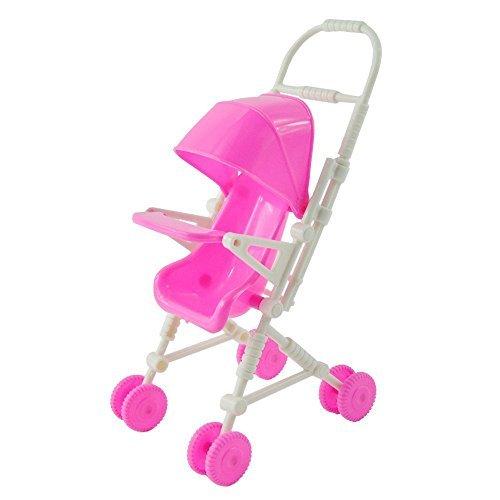 Qiyun Plastic Mini Carriage Stroller For Kelly Doll Barbie Furniture Accessories