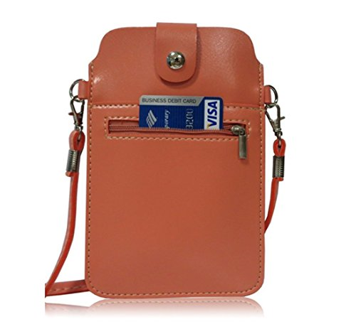 Shoulder Crossbody Small Pouch YaJaMa Case Pink Women Cellphone Wallet Leather Card Bag IFRtHqxt