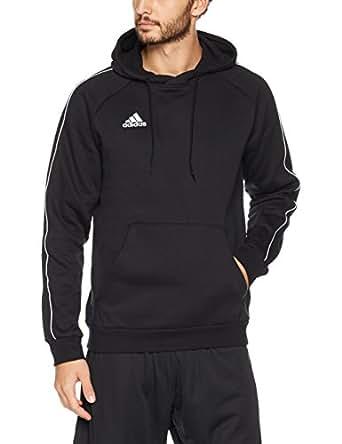 adidas Australia Men's Core 18 Hoodie, Black/White, S