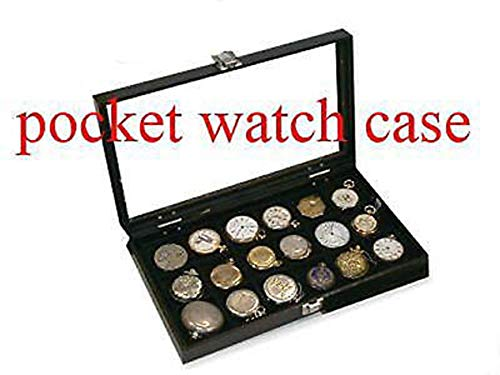 Case Watch Pocket Antique - 18 Watch Show Case Display Antique Jewelry Supply Box for Pocket Watches