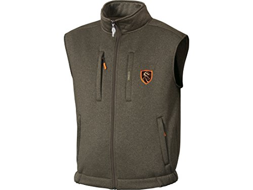Non-Typical Soft Shell Fleece Vest Heathered Size Large