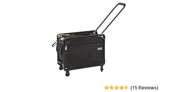 8916e5af46cc TUTTO 17-Inch Small Office on Wheels for Laptop, Black (4217BCC)