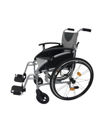 Z-Tec - Silla de ruedas autopropulsada, plegable y ligera con asiento de 45