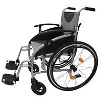 Z-Tec Rollstuhl aus Aluminium, selbstfahrend, zusammenklappbar Sitz Breite 18