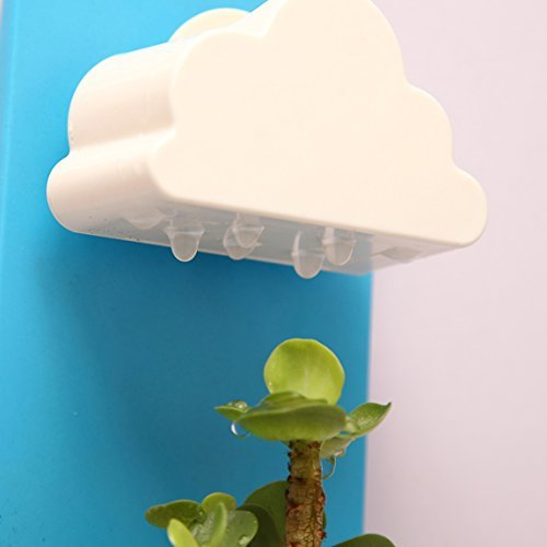 SZAT New Creative Indoor Wall-Hanging Cloud & Flower Mount Rainy Pot (Green) by SZAT
