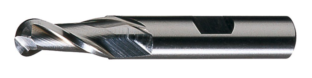 Spiral Flute Pack qty. 1 Putnam 91273 HSS Single End 2-Flute CC with Ball Nose End Mill Straight w// Weldon Flats Bright Finish 1.375 Diameter