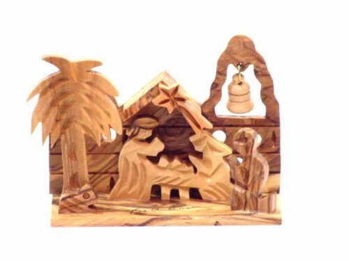 Olive Wood Nativity -Christmas Village