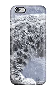 Hot Fashion Tpu Case For Iphone 6 Plus- Snow Leopard Defender Case Cover