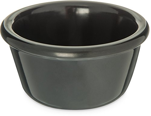 Black Smooth Ramekin - Carlisle S28503 Melamine Smooth Ramekin, 4 oz. Capacity, Black (Case of 48)