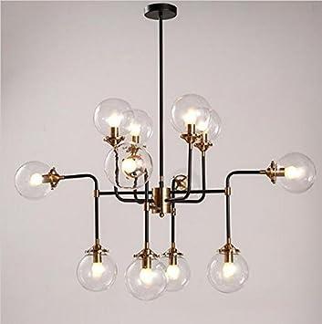 GOWE moderna lámpara de cristal lámpara de araña luz E14 bombilla LED lámpara de techo moderna Iluminación Artística esfera habichuelas mágicas Molecular ...