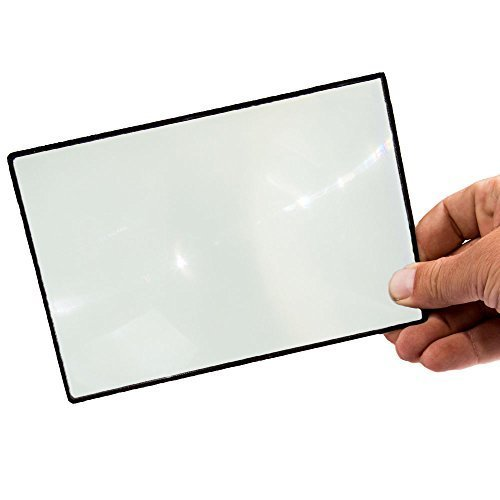 "Premium 7"" Page Magnifier Fresnel Lens For Reading"