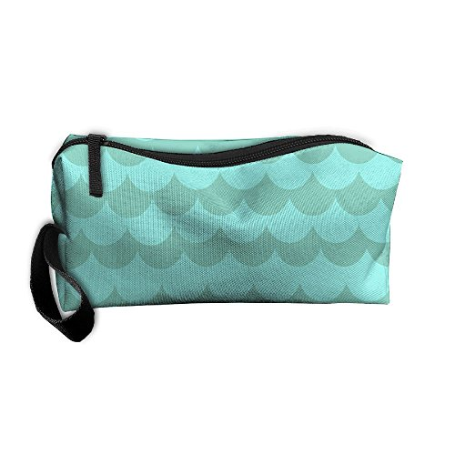 Ming Horse Light Sea Waves Small Travel&home Portable Make-up Receive Bag Hand Cosmetic Bag