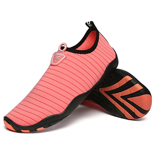 BELECOO Wasser Schuhe Unisex - Erwachsene Quick Drying Aqua Schuhe Outdoor Waterproof Schwimmschuhe Rosa