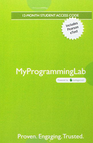 MyLab Programming with Pearson eText -- Access Code Card -- for Starting Out with Python (My Programming Lab) by Pearson