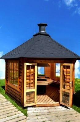 Barbacoa Casa de Deluxe con 9, 2 m² superficie: Amazon.es: Jardín