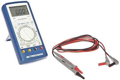 BK Precision 388B Manual-Ranging, Average-Sensing Digital Multimeter, with Logic Test and Transistor Gain, 20 Amp, 750VAC, 1000VDC, 40 Megaohms, 40 Microfarads, 4 (Multimeter Transistor Test)