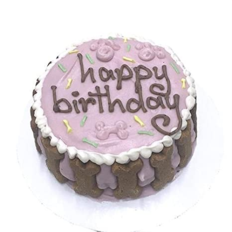 Amazon Happy Birthday Dog Cake Pink Pet Supplies