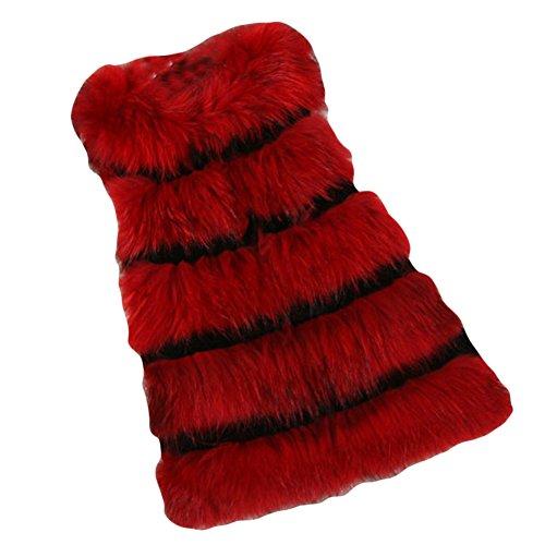 Breve Bodeaux Outerwear Caldo Finto Cappotto Di Pelliccia Per Inverno Di LaoZan Gilet Donna In vOxPqAaqBn