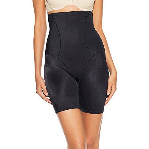 Bali Women's Shapewear Cool Comfort Hi-Waist Thigh Slimmer, Black, (High Waist Shapewear)