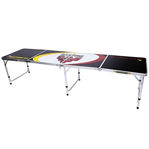 HOMCOM 8' Portable Aluminum Tailgate Beer Pong Table by HOMCOM