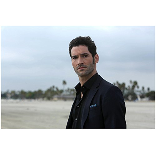 Lucifer Tom Ellis as Lucifer body facing to the left in desert setting 8 x 10 Inch Photo -