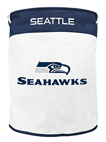 NFL Seattle Seahawks Canvas Laundry Basket with Braided Rope Handles