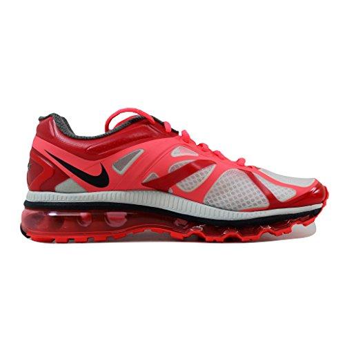 Femmes Nike Air Max + 2012 Blanc / Anthracite Chaud Punch-sirène 487679-105 Rouge Chaussure
