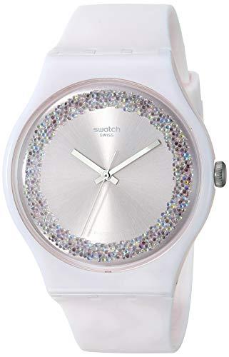 🥇 Swatch Reloj Analógico para Mujer de Cuarzo con Correa en Silicona SUOP110