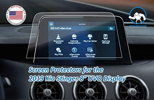 Tuff Protect Clear Screen Protectors for 2019 Kia Stinger 8 UVO System Navigation Screen