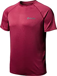 CLSL TM-MTS03-CRZ_Medium Tesla Men's HyperDri Short Sleeve T-Shirt Athletic Cool Running Top MTS03