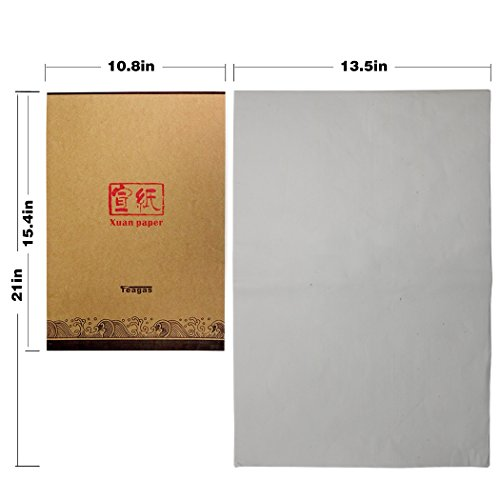 Teagas Japanese Chinese Sumi Ink Brush Writing Painting Calligraphy Rice Paper,13.5 x 21 Inch