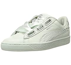 free shipping 9d257 29730 PUMA Womens Basket Heart Oceanaire Wn Blue Size: 5.5 US ...
