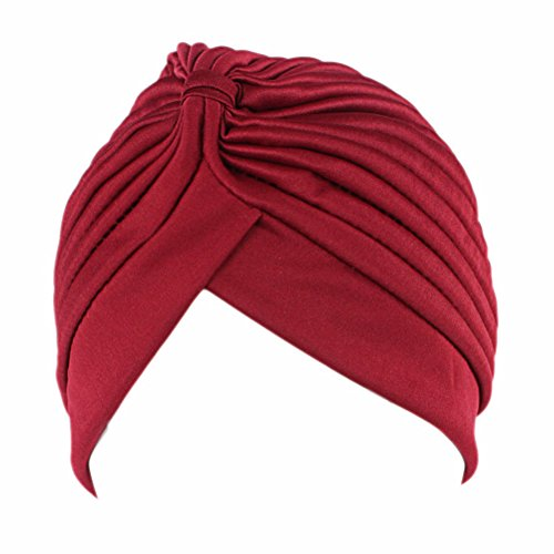 17 Pack Stretchable Polyester Turban Head Cover Twisted PleatedHeadwrap By Ever Fairy (Style A)