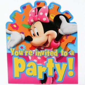 Minnie Mouse Invitations, 8ct -