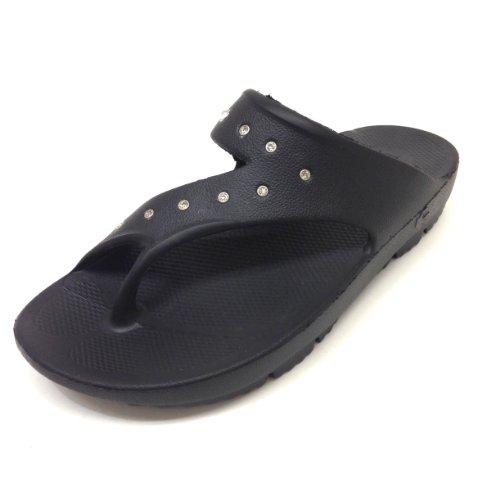 Tenzi Women 's Energy Restoration Sandal withクリアラインストーン