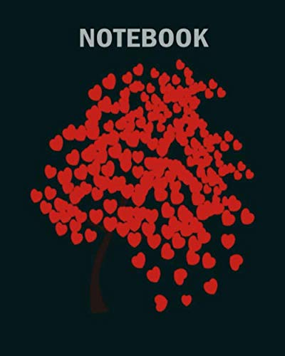 Notebook: tree heart broken leaf wood birch forest birch - 50 sheets, 100 pages - 8 x 10 inches