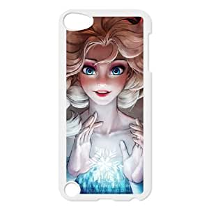 Grouden R Create and Design Phone Case,The Snow Queen Cell Phone Case for iPod touch 5 White + Tempered Glass Screen Protector (Free) GHL-2967597