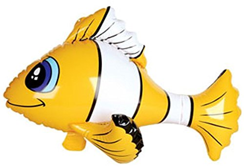 Inflatable Yellow Tropical Clown Fish Balloon Decoration for $<!--$3.99-->